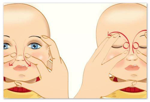 Схема массажа.