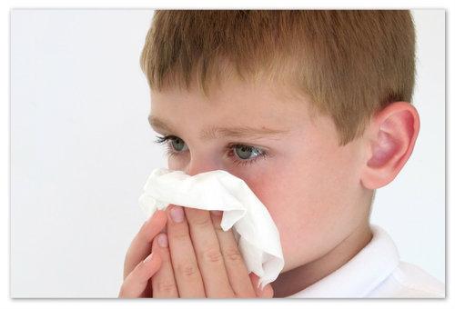 Причины насморка у детей.