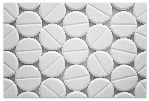 Белые таблетки.